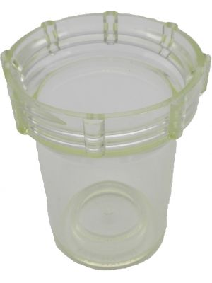 BOWL, FOR INLINE CAN-TYPE FILTER, CLEAR 3/8