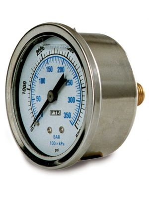 Back Mount Stainless Steel High Pressure Gauges