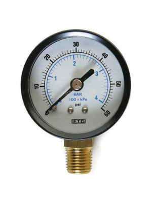 GAUGE, 60 PSI, BOTTOM MOUNT, 2