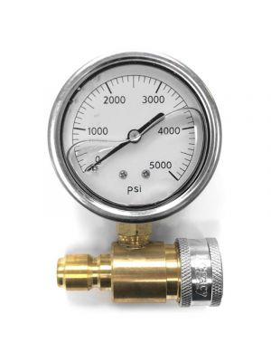 PRESSURE GAUGE ASSEMBLY, COLD WATER, 0-5000 PSI