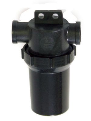 IN-LINE CAN-TYPE WATER FILTERS, 40 MESH, BLACK