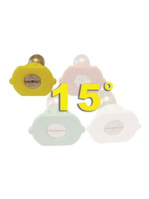 YELLOW, 15 degree, Legacy QC Nozzles