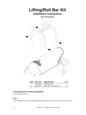 Assy, Lifting-Roll Bar Kit, MHC