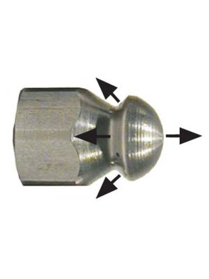 NON-ROTATING SEWER NOZZLE, 3/8