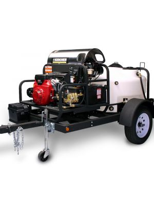Shown with optional Liberty Series hot water pressure washer skid